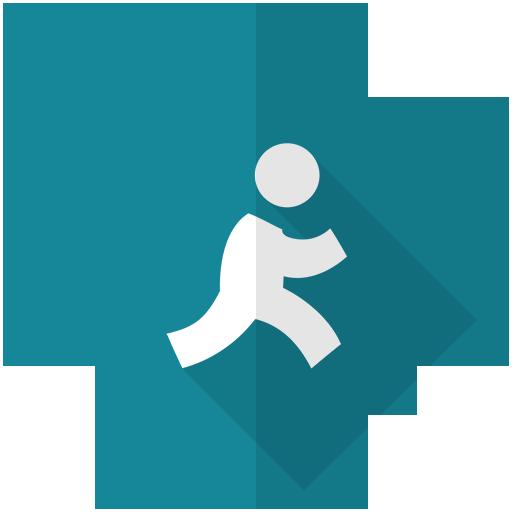 aim, logo, network icon