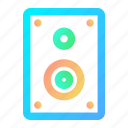 audio, loudspeaker, music, sound, speaker, technology icon
