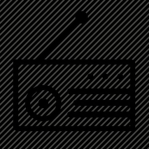 antenna, audio, media, multimedia, music, player, radio, song, sound, talk, tune, volume icon