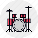 drum, drums, instrument, kit, musical, set icon