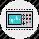 control, equalization, equalizer, hardware, sound, studio icon