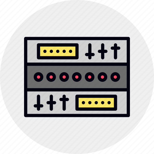 component, module, rack, sound, studio, synth icon