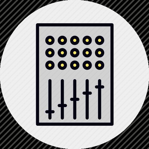Audio, console, control, mix, mixer, sound, studio icon - Download on Iconfinder