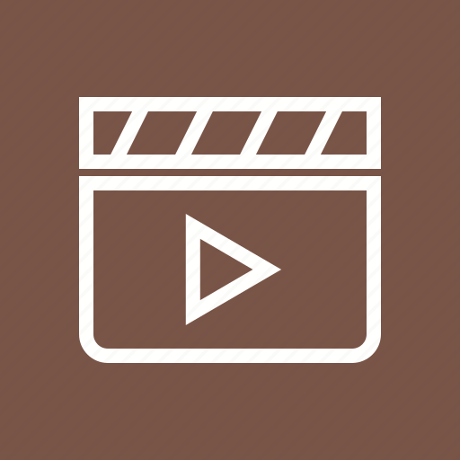 clapperboard, film, reel, video icon