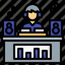 dj, entertainment, music, sound, waves