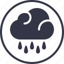 cloud, forecast, noise, rain, sound, weather, yumminky icon