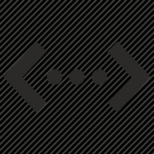 code, dots, program, script, source icon