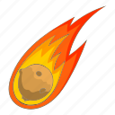 burn, fire, flame, meteorite icon