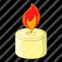 bulb, burning, candle, light icon