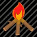bonfire, burning, fire, flame