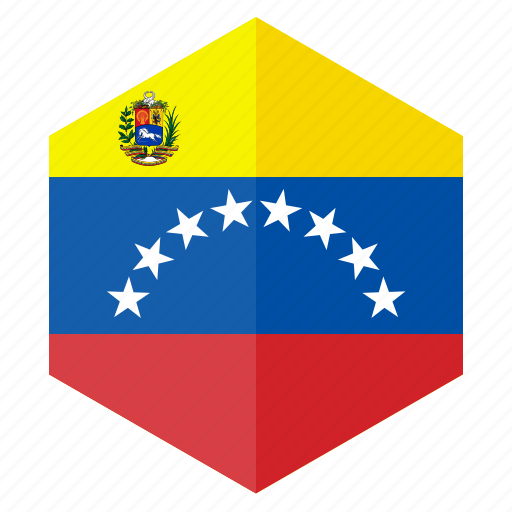 america, country, design, flag, hexagon, venezuela icon