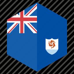 america, country, design, flag, hexagon icon