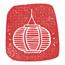 asian, chinese lantern, korean, lantern, light, paper lantern icon