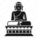 asia, buddha, buddhism, illustration, religion, spiritual, statue icon