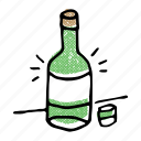 alcohol, asian, bottle, drink, korean, soju icon