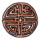 asian, asian pattern, dojang, korean, korean seal, stamp icon