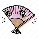 asian, chinese, fan, hand fan, japanese, korean, oriental fan icon