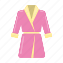accessory, attribute, bathrobe, clothes, salon, spa icon