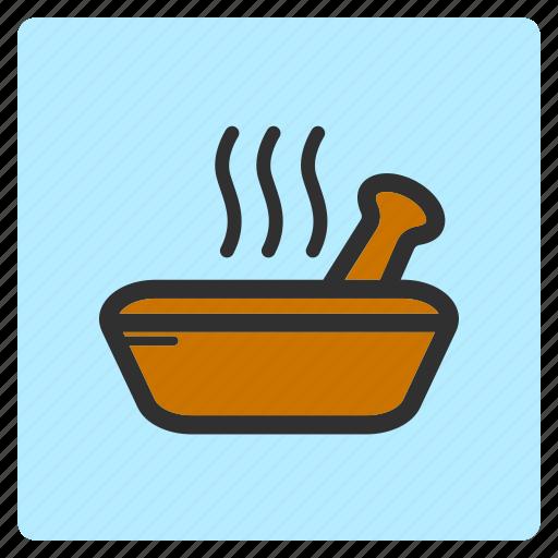 bowl, cartoon, color, flat color, illustration, spa icon