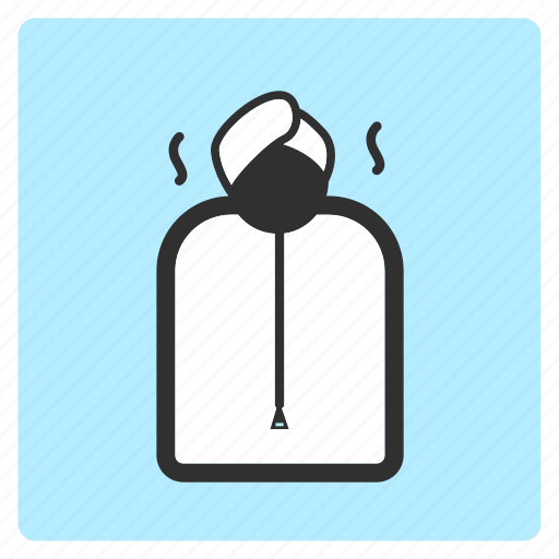 cartoon, hot, illustration, line, sauna, spa, sweat icon