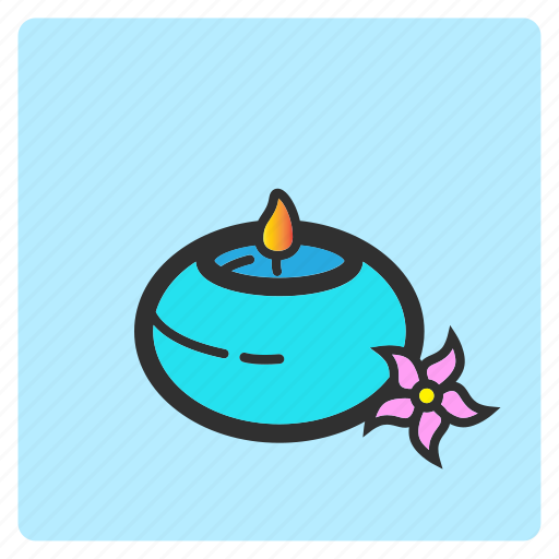 aromatherapy, cartoon, color, flat color, illustration, relax, treatment icon
