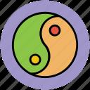 chinese philosophy, chinese symbol, duality, harmony, spirituality, taijitu, taoism, yin yang icon