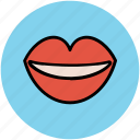 beauty care, lips, lips beauty, personal care, smiling lips, woman lips icon