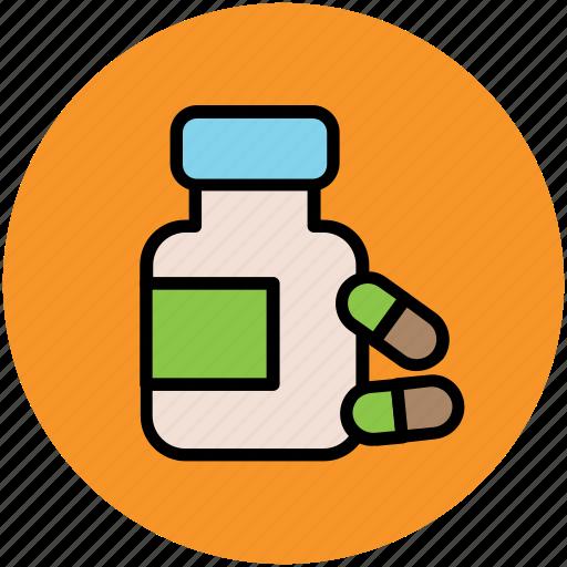 drugs, food supplements, medication, medicine jar, pills, vitamins icon
