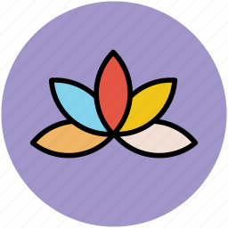 ecology, flower petals, leaves, nature, petals icon