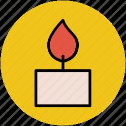 burning candle, candle, candlelight, light, lighting equipment, natural phenomenon, soft light icon