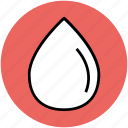 drop, droplet, liquid drop, oil drop, rain drop, water drop icon