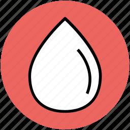 drop, droplet, liquid drop, oil drop, rain drop, water drop icon