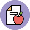 apple, diet chart, diet plan, gymnast diet, healthy diet icon