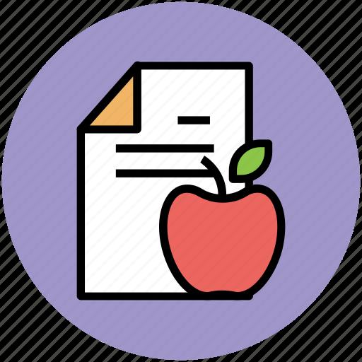 apple, diet chart, diet plan, gymnast diet, healthy diet icon