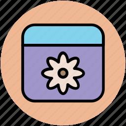 cream container, spa, spa cream, spa material, spa ointment, spa treatment icon