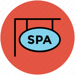 hanging signboard, spa advertisement, spa banner, spa billboard, spa signboard icon