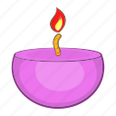 candle, cartoon, flame, health, relaxation, spa, therapy