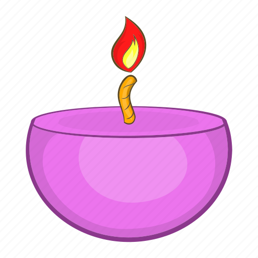 candle, cartoon, flame, health, relaxation, spa, therapy icon