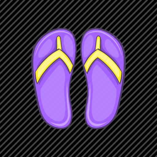 cartoon, comfortable, female, shoe, slipper, softness, spa icon