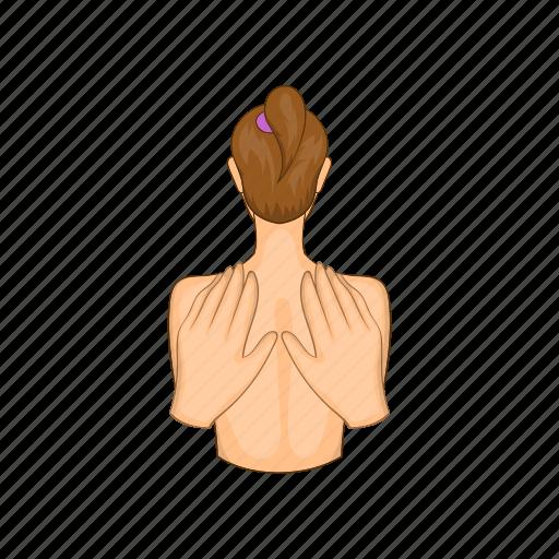 body, care, cartoon, massage, spa, therapy, treatment icon