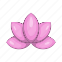 cartoon, floral, flower, lotus, nature, petal, plant icon
