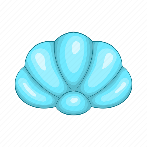 beach, cartoon, mollusk, nature, scallop, shell, spa icon