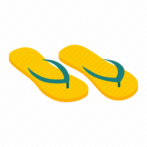 flip, flop, isometric, sandal, slipper, spa, summer icon