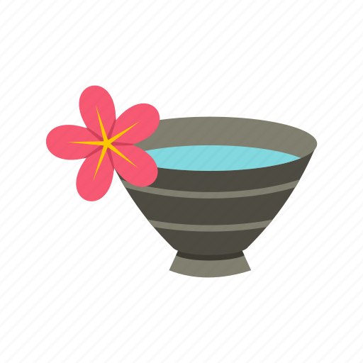 beauty, bowl, care, health, healthy, spa, water icon