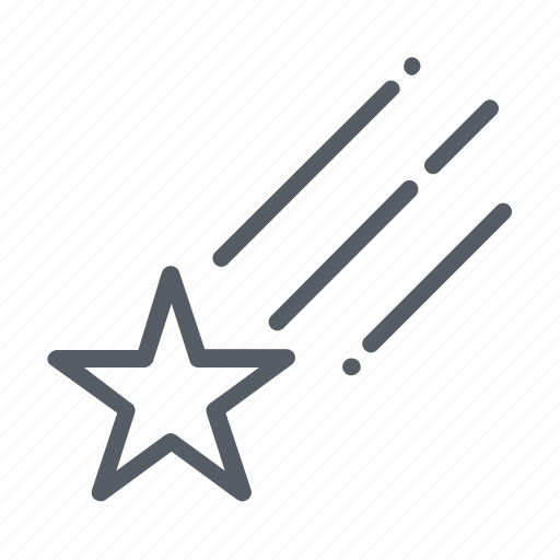 Falling, shooting, shooting star, space, star icon - Download on Iconfinder