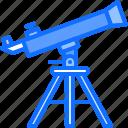 astronaut, astronomy, cosmonaut, space, telescope, tripod icon