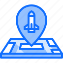 astronaut, astronomy, cosmonaut, location, map, rocket, space icon