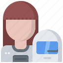 astronaut, astronomy, cosmonaut, helmet, space, spacesuit, woman