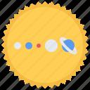 astronaut, astronomy, cosmonaut, solar, space, sun, system icon