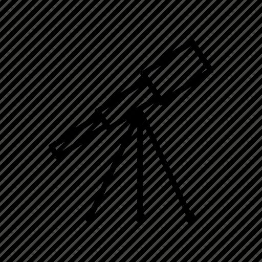 astronomy, cosmos, lens, sky, space, stars, telescope icon